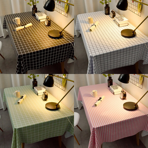 Khăn Trải Bàn 137X90Cm Vải Lanh Bàn Chống Thấm Nước Dùng Một Lần Ins Bàn Hình Chữ Nhật Vải Bàn PVC Bàn Học Sinh Mat