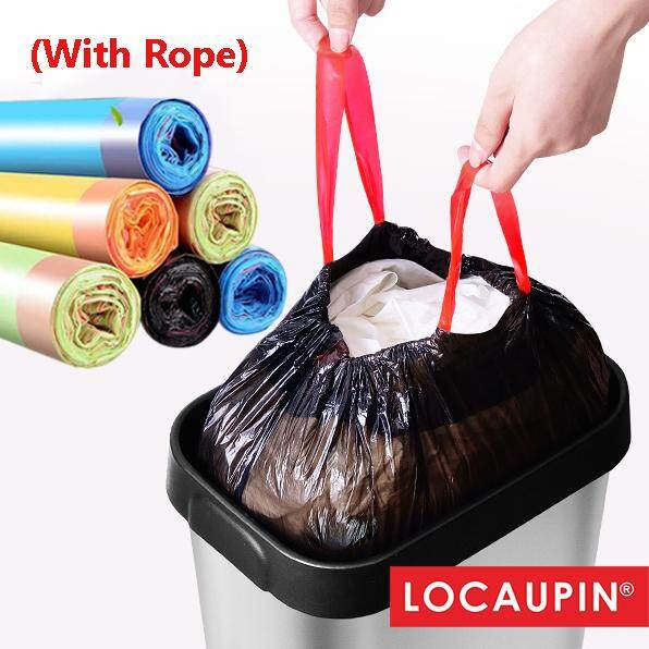 Locaupin Home Garbage Bags Office Cleaning Trash Bags With Rope By Locaupin Official Store.