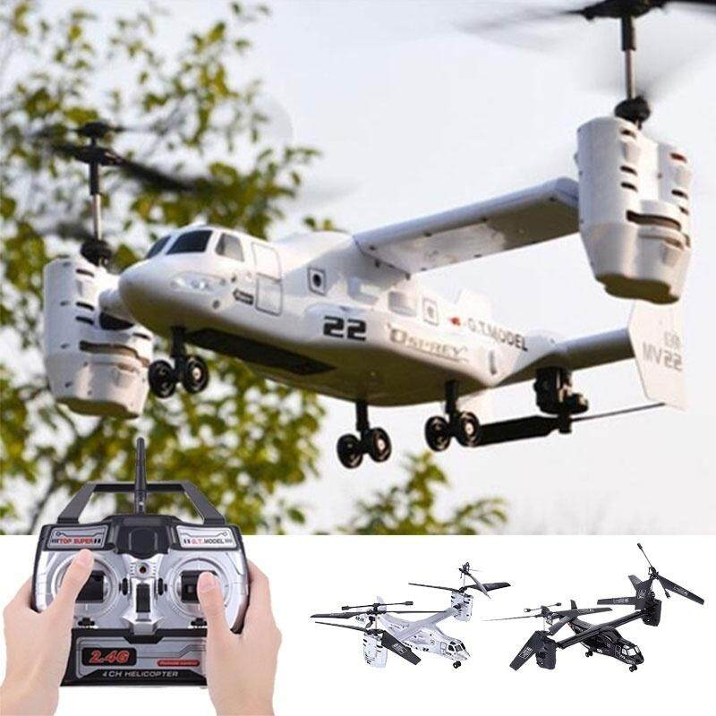 New Fashion Osprey Transport Aircraft 4.5 Ch 2.4g Rc Drone Helicopter Double Engine Remote Control Military Toys Gyros Plane Toy By Huiende.