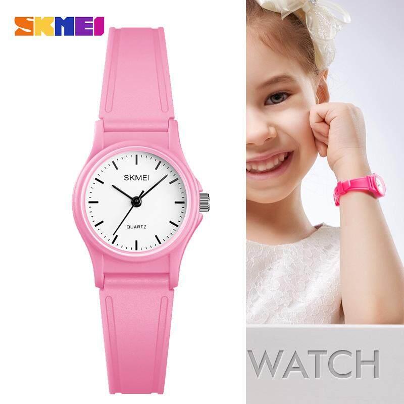 SKMEI 1401 Outdoor Sport Kids Watches Simple Dress for Girls Children Watch 50M Waterproof PU Strap Quartz Boy Wristwatch Malaysia