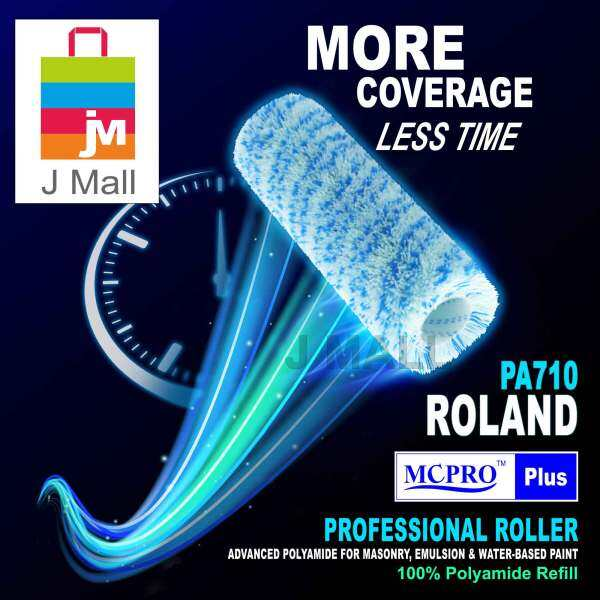 MCPRO 7 inch Premium & Professional Paint Roller Cover Refill 100% Polyamide Roller (20mm Pile Length) ROLAND PA710 / MANHATTAN PA730 - 1pc