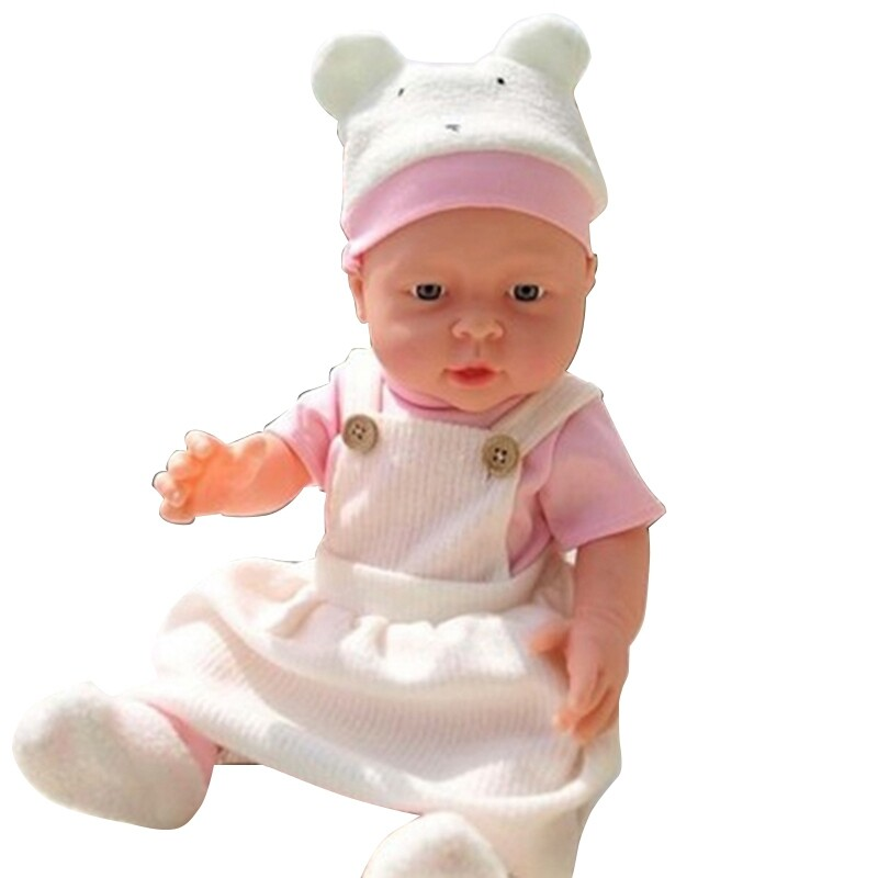 Ultra-Realistic Simulation Baby Dolls Full-Plastic Bath Housekeeping Month Training Baby Nurses Props Model Children's Toys Pink