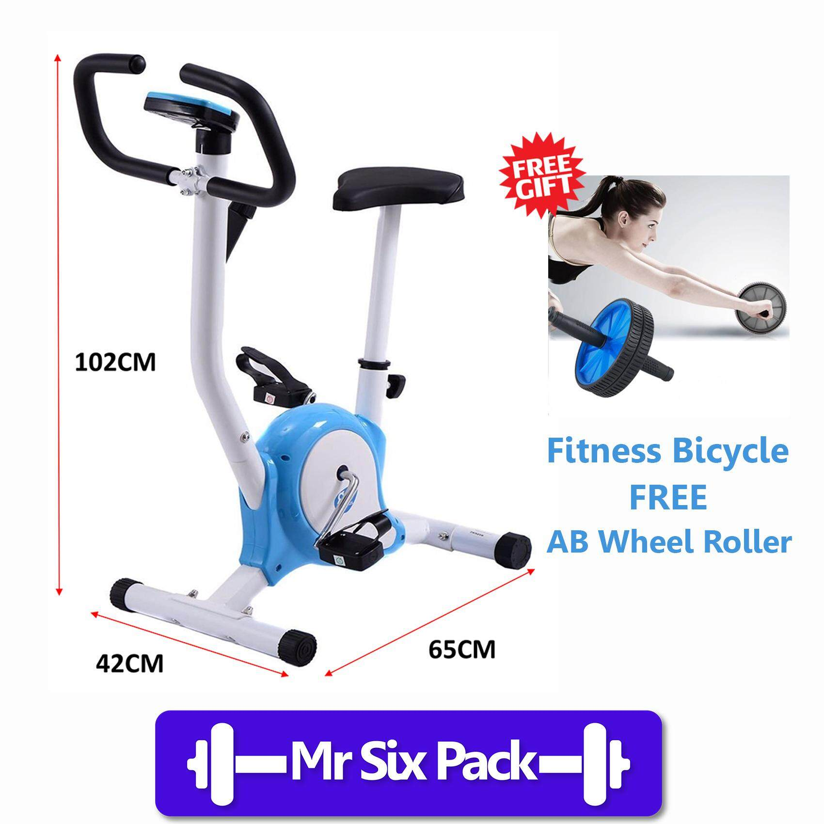 Exercise Fitness Bicycle With Roller (random Colour) By Mr Six Pack.