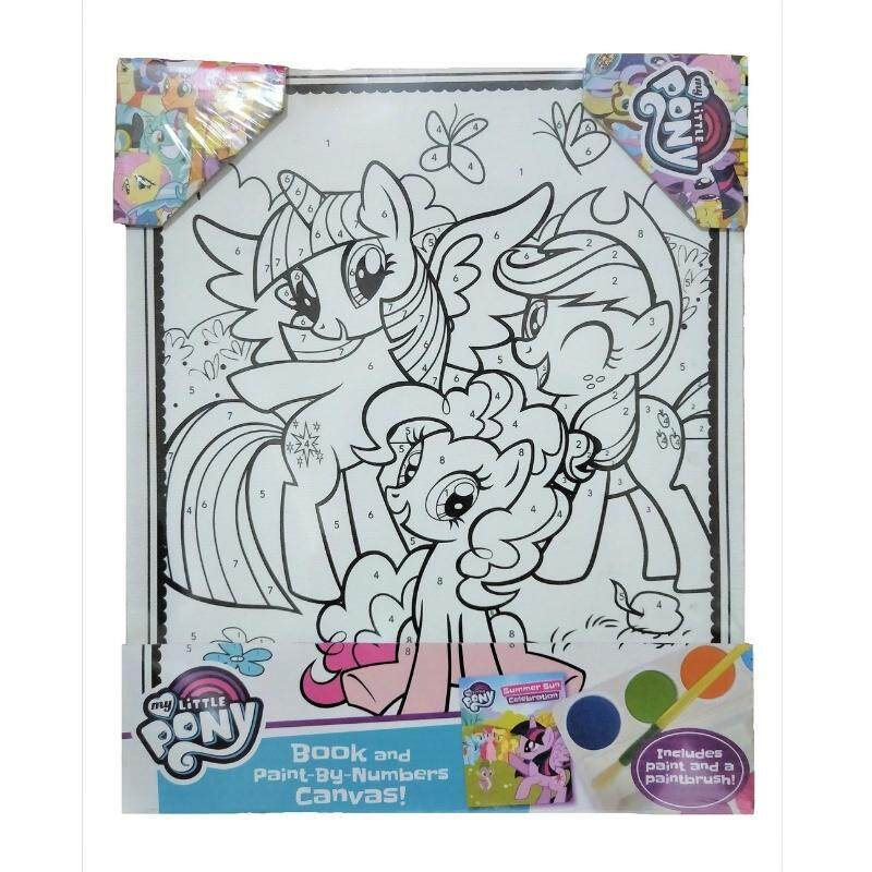 My Little Pony - Book and Paint by Numbers Canvas toys for girls