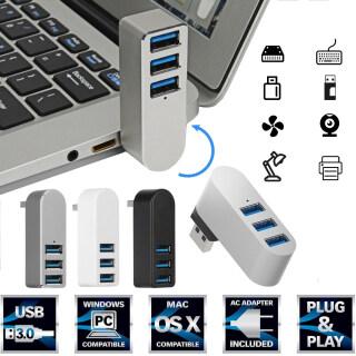 MSRC Hợp kim nhôm Có thể xoay Tốc độ cao Truyền dữ liệu Trung tâm USB 3.0 3 cổng Bộ mở rộng USB Bộ chuyển đổi thumbnail