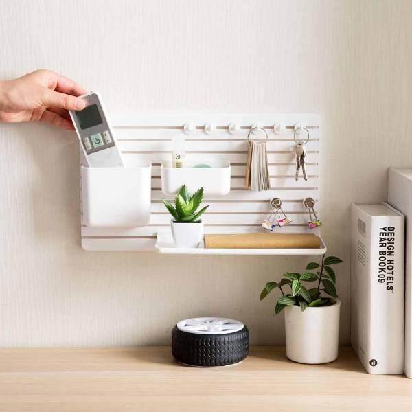 Self-adhesive DIY Storage Rack Bathroom Kitchen Wall Hanging Shelf Hooks