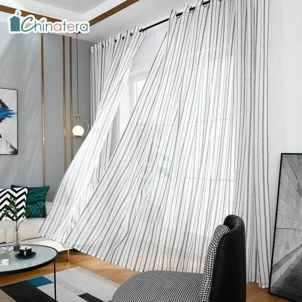 Rèm Cửa Sổ Vải Tuyn Chinatera, 1 Tấm Rèm Cửa Sổ Sợi Mỏng Trong Phòng Khách Phòng Ngủ Họa Tiết Trái Tim Tình Yêu Trang Nhã