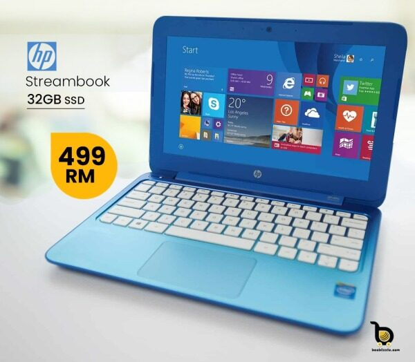 HP Stream Laptop PC  Intel N4000  DDR4 SDRAM 32GB eMMC Webcam And More... Malaysia