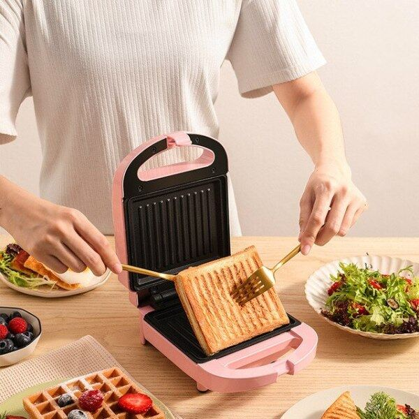 Máy Làm Bánh Sandwich Máy Làm Bữa Sáng Trang Chủ Ánh Sáng Máy Thực Phẩm Máy Làm Bánh Tổ Ong Máy Đa Chức Năng Làm Nóng Bánh Mì Nướng Áp Lực