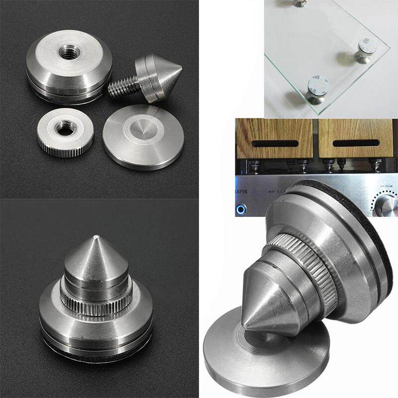 idealhere Stainless Steel Speaker Spike with Pad Amplifier Isolation Cone  Stand Feet