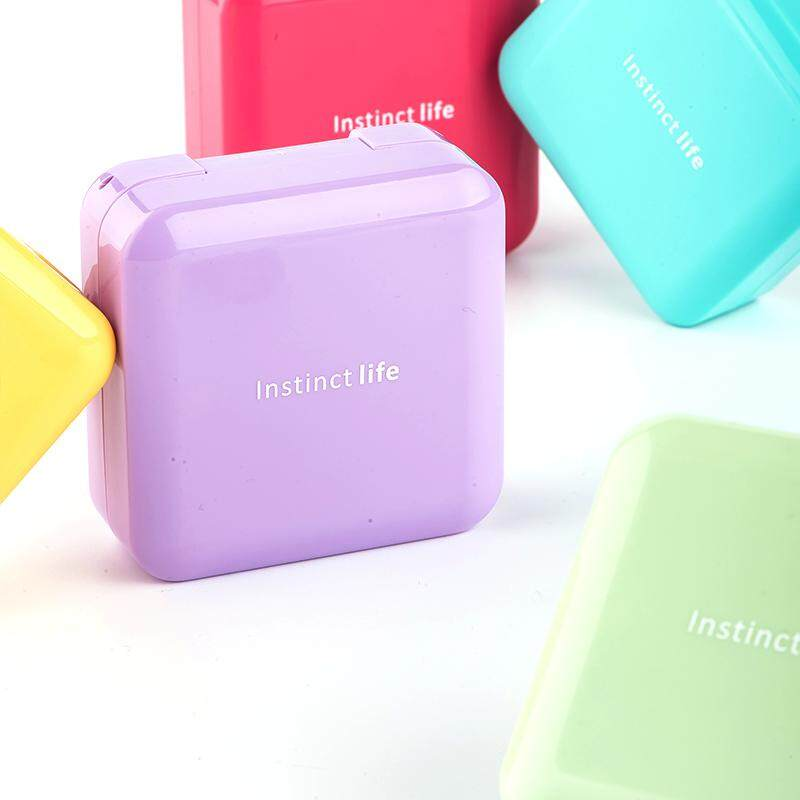 Mini Portable Small Medicine Box One Week with yao Box Seal Moisture-Proof Medicine Separating Box Pills Sub-Protection from Light Medicine Box