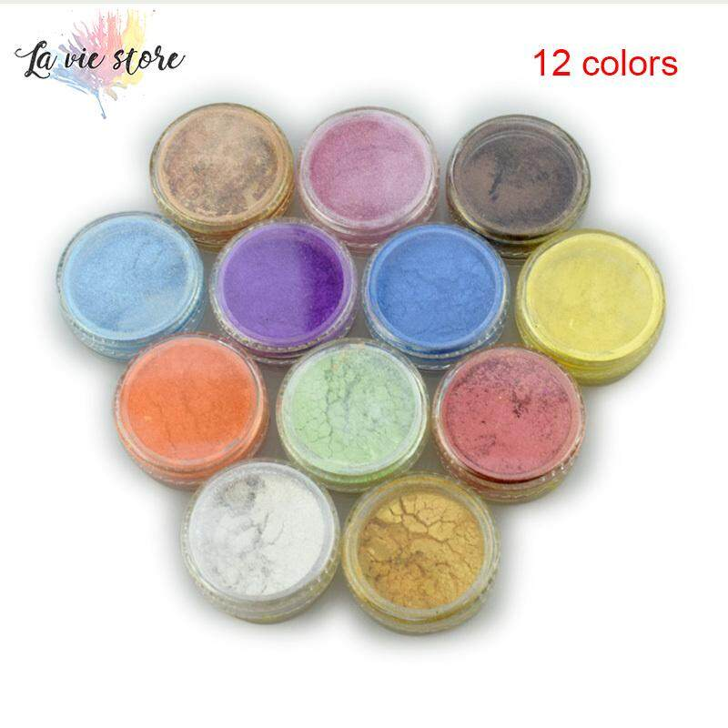 La vis 12 Color Mica Pigment Powder for Soap Cosmetics Resin Colorant Dye Nail Art