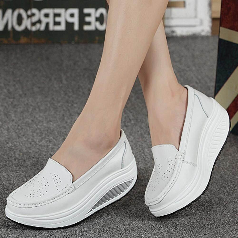สบายๆผู้หญิงรองเท้าหนังบนรองเท้าหนังส้นเตี้ยส้น 3-5 ซม. By Babeyili556.