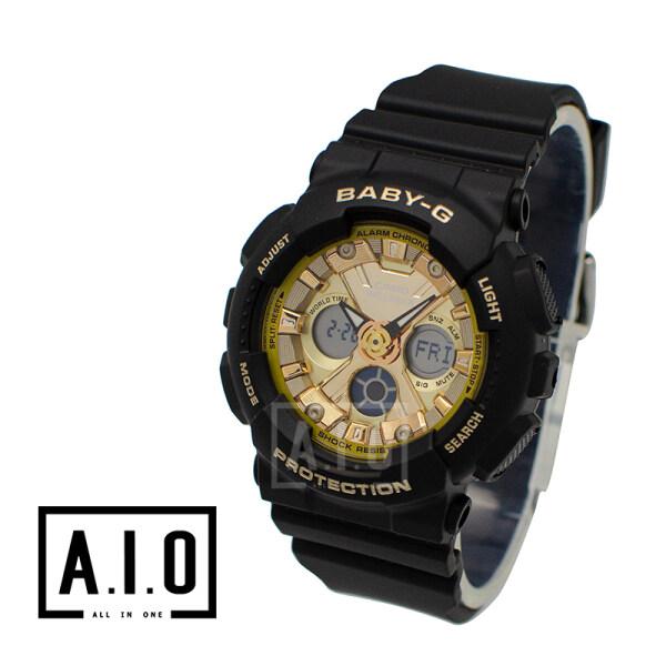 Casio Baby-G Standard Analog-Digital BA-130 Series Black Resin Band Watch BA130-1A3 BA-130-1A3 (jam tangan wanita / casio watch / casio watch women) Malaysia