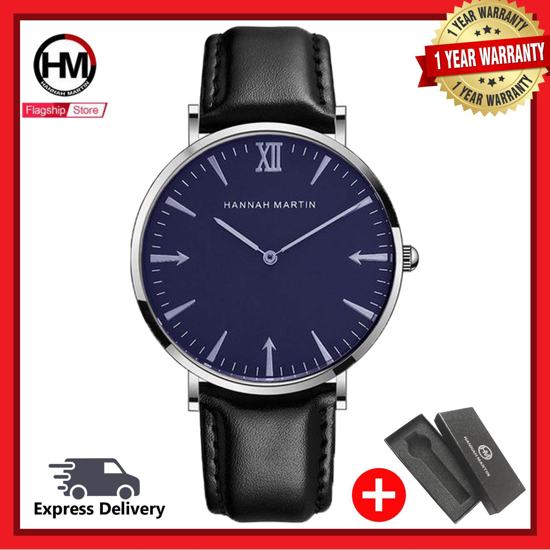 Hannah Martin WTH-484 Men Classic Leather Quartz Watch Malaysia