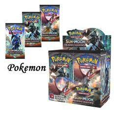 [Đã Sẵn Sàng] 324 PCS Cho Pokemon Thẻ Bài Chơi Game Pikaqiu TCG: Mặt Trời Và Mặt Trăng Đốt Bóng Con Dấu Hộp Mở Rộng Pikaqiu Trò Chơi Cho Pokemon
