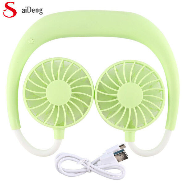 Portable Sports Halter Fan Mini Hanging Neck Fan USB Rechargeable Multi-function Mini fan