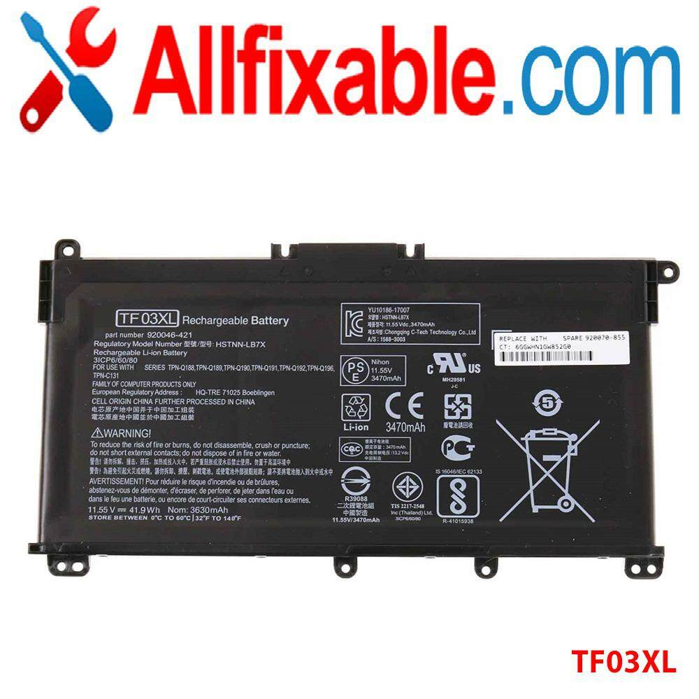 HP Pavilion 14-BF  TF03XL Series  Notebook Computer Battery Malaysia