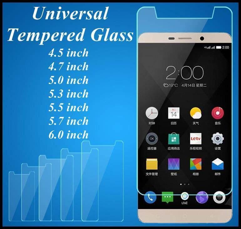 SHOPSMARTER UNIVERSAL 4.5 4.7 5.0 5.3 5.5 5.7 6.0 inch 0.26mm 9H Premium CLEAR Tempered
