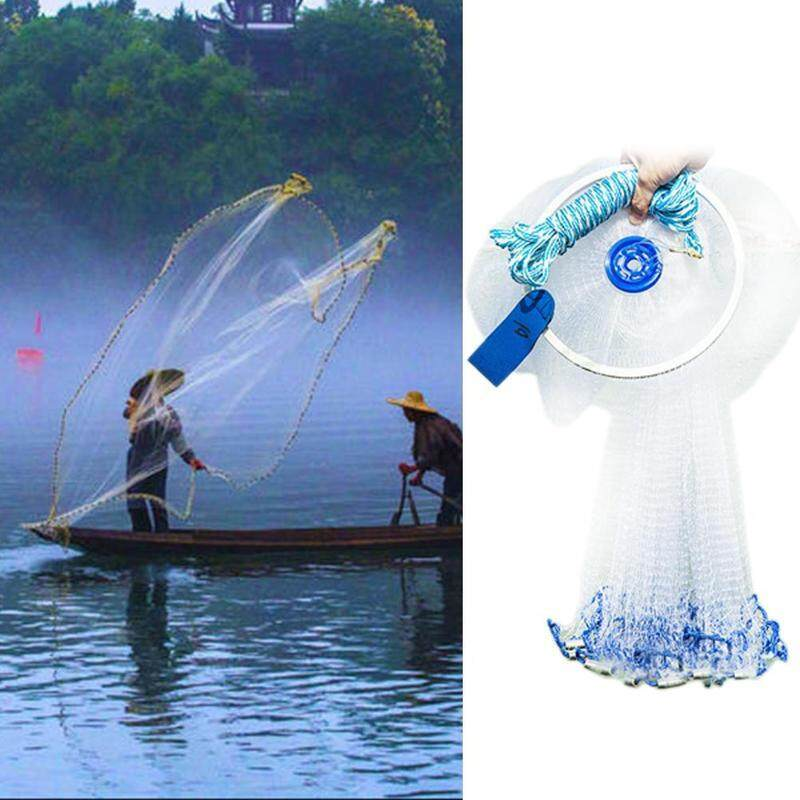 Magic Hand Cast Fishing Net Spin Network Easy Throw Bait Nylon Mesh 240cm/300cm By Blessing From China.