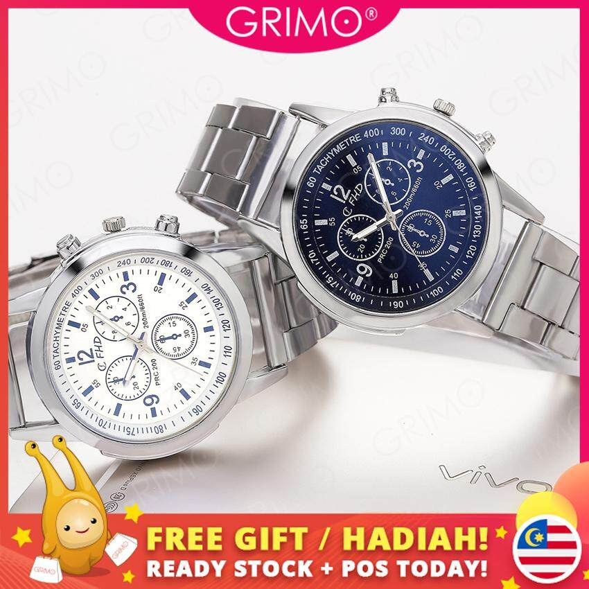 Grimo Malaysia - Ronaldo Metal Watch Jam Tangan Men Watches Boy Man Dinner Lawa Casual Gift Lelaki Guys New October 2019 ac11241 Malaysia