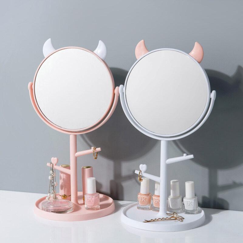 Homenhome Để Bàn Di Động Gương Trang Điểm 2 Mặt Vanity Gương Và Kính Lúp