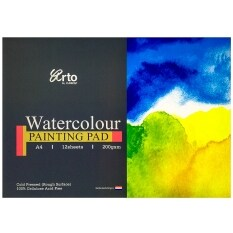 A4 12s Watercolor Paper Pad (100% Cellulose) 200 Gsm By Scrap N Crop.