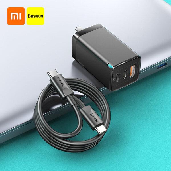 Sạc Xiaomi Baseus 65W GaN2 Pro Sạc Nhanh PD 4.0 3.0 Loại C PD USB Với QC 4.0 3.0 Sạc Nhanh Di Động Tương Thích Với Điện Thoại IP Xiaomi Máy Tính Bảng Máy Tính Xách Tay Với Cáp Dữ Liệu 100W 100-240V