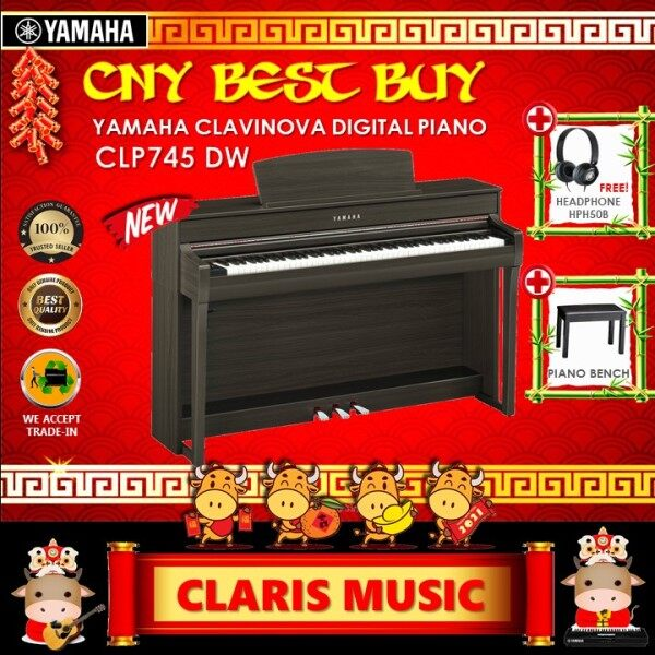 YAMAHA CLAVINOVA DIGITAL PIANO (MODEL: CLP745DW) NEW UNIT! Malaysia
