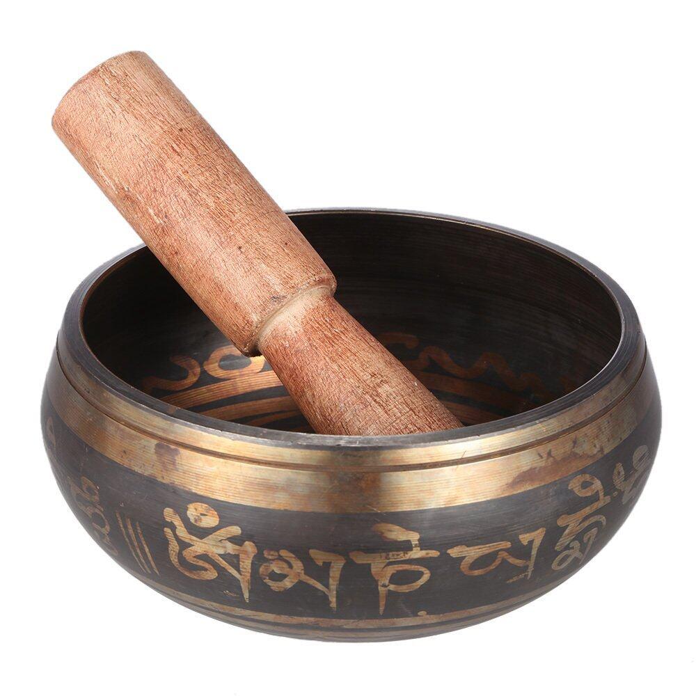 Tinh Tế 2.8 In-ch Handmade Chuông Tây Tạng Kim Loại Chuông Gõ Hình Bát Với Tiền Đạo Cho Phật Giáo...