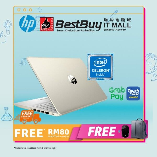 HP 14s-cf2030TU 14 Laptop Pale Gold ( Celeron N4020, 4GB, 256GB, Intel, W10 ) Malaysia