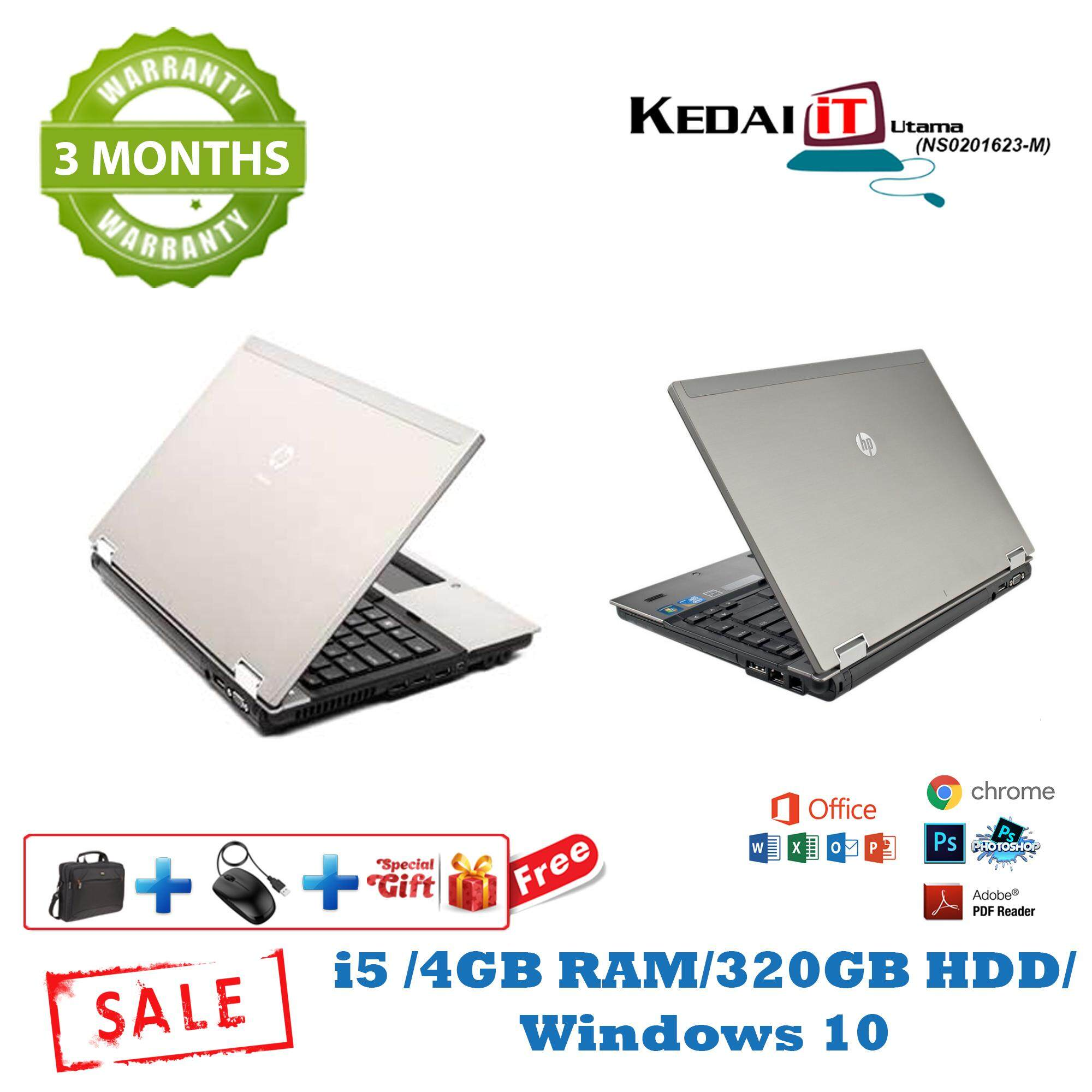 Hp 8440p i5 Laptop/ 4GB RAM/ 320GB HDD/ Windows 10/ Factory Refurbishes 3 Months Warranty Malaysia