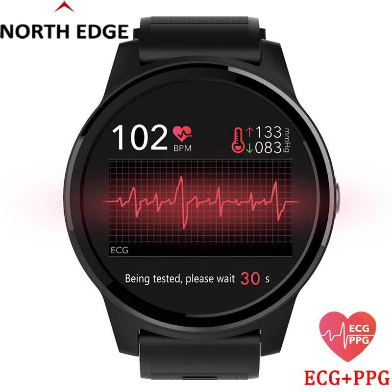 NORTH EDGE Smartwatch Men Women ECG Blood Pressure Calories Heart Rate Fitness Tracker Watch  Sports Bluetooth Information push For Android IOS Malaysia