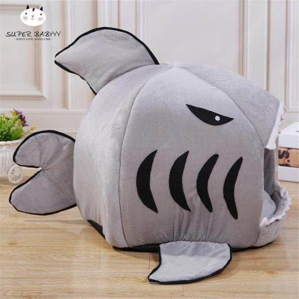 Giường thú cưng SBY hình cá mập có thể tháo rời giường, giường dành cho chó mèo nằm ngủ chất liệu cao cấp thoải mái, mềm mại - INTL