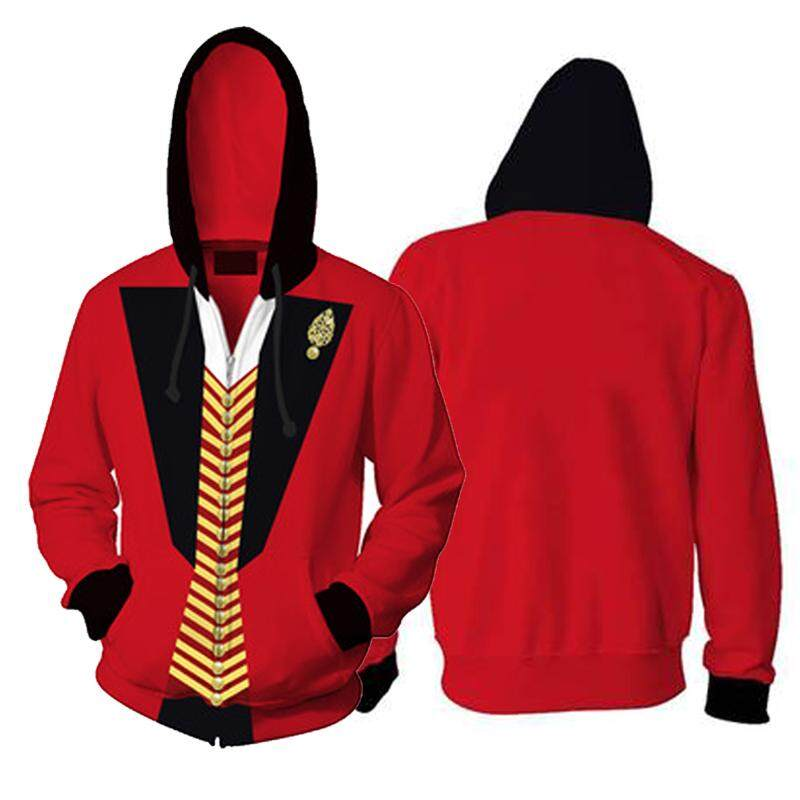 The Greatest Showman P.T. Barnum Cosplay Hoodie Sweatshirt Costume MEN Hoodey Jacket Coat Suit Size S-5XL