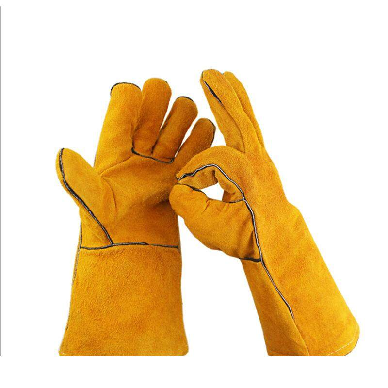 [comebuy88] Unisex Long Pruning Gloves Faux Leather Rose Thorn Gardening Gloves Breathable Protector Gloves