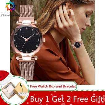 【ซื้อ 1 แถม 2 ฟรีของขวัญ】Top ยี่ห้อผู้หญิงนาฬิกาแม่เหล็กแฟชั่นสายคล้อง Life นาฬิกากันน้ำสุภาพสตรีนาฬิกาข้อมือควอตซ์นาฬิกามีชื่อเสียง-