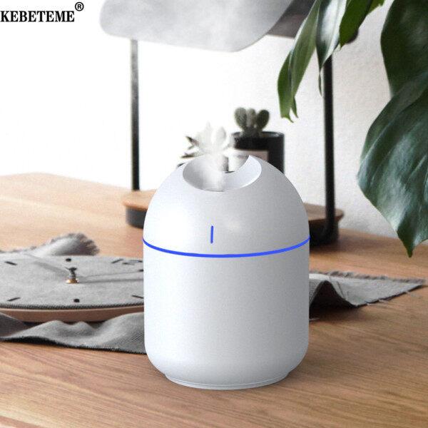 Máy dạng phun sương tạo độ ẩm không khí 3 trong 1 quạt và đèn ban đêm KEBETEME 200ML 2W, khuếch tán tinh dầu thơm, máy cầm tay cỡ nhỏ, sạc USB, dùng cho gia đình văn phòng - INTL