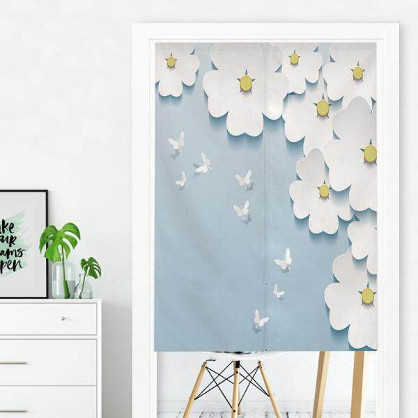 Japanese-style  Bedroom living room decorative partition long Door curtain fabric bedroom Print cute Door curtain kitchen short Door curtain with rod