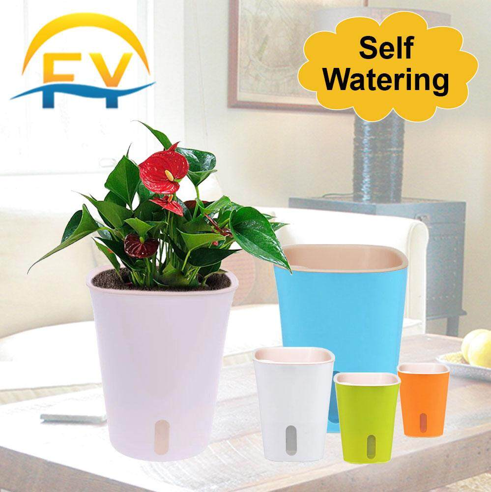 FY Self Watering Absorb Flower Plant Lazy Pot Colorful