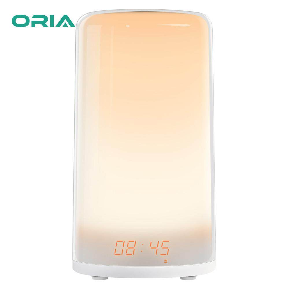 Nơi bán ORIA Đồng Hồ Báo Thức Kỹ Thuật Số Sunrise Đánh Thức Đèn Ánh Sáng Dịu Nhẹ với Màu RGB Cảm Ứng Cảm Biến tự nhiên đánh thức Âm Thanh