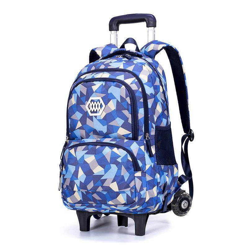 Trolley schoolbag primary Girls six rounds of climbing stairs childrens schoolbag protection ridges  8-12 years old waterproof