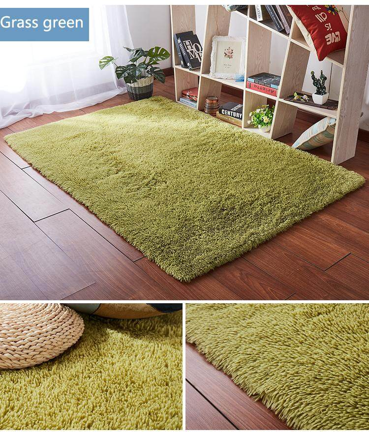 [free shipping]1.4 x 2m Fluffy Fashion Modern Floor Area Rug Carpet Mat Non-slip for Living Room Bedroom Bathroom Home Accessory Supplies Grass Green