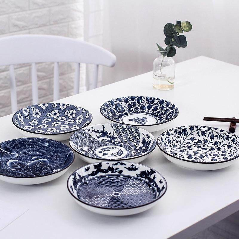 Ceramic Blue and White Porcelain Household Ceramic Tableware