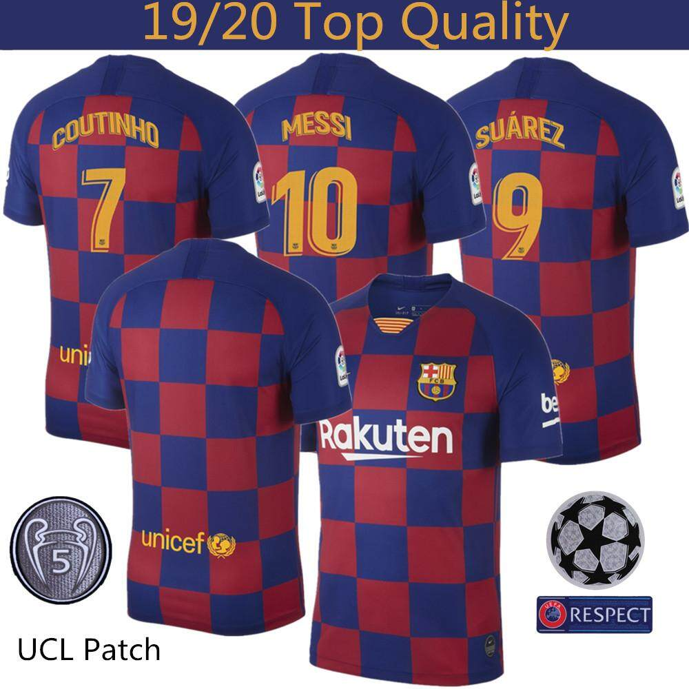 the latest 53af9 9a5ea Top Quality 19/20 Barcelona Football Jersey Coutinho 7 Suárez 9 Messi 10