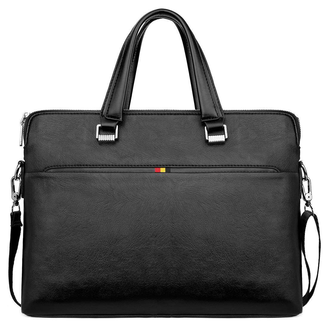 Lordwey Simple Design Leisure Mens Leather Laptop Handbag Casual Business Man Briefcase Computer Shoulder Bags 1119