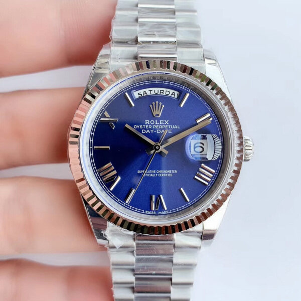 Rolex_Day-Date 40 228239 SS Blue Dial Swiss 3255 Malaysia