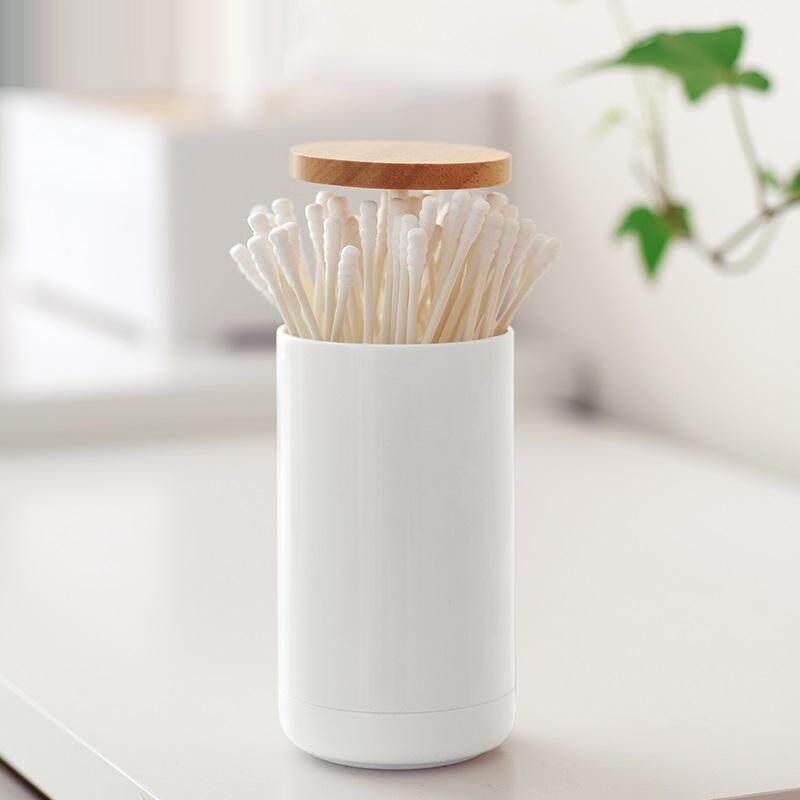 Sealed Oak Cover Anti Dust Cotton Swab Box Toothpick Box Sub Grid Storage Home Storage Box By Keysmico.