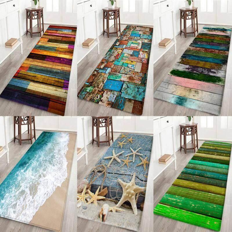 3D Print Thick Flannel Non-slip Door Mat Floor Mat Kitchen Bath Rug Carpet