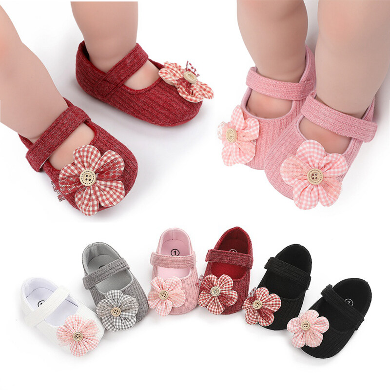New Lovely Baby Girls First Walkers Newborn Princess Shoes for 0-18 Month Baby